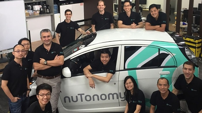 Driverless taxi in Singapore