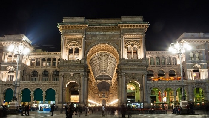 Sustainable LED Lighting in Milan Italy with time lighting control - eco urban lab