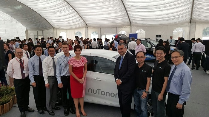 Autonomous taxi nutonomy - Inauguration Singapore - eco urban motoring transport