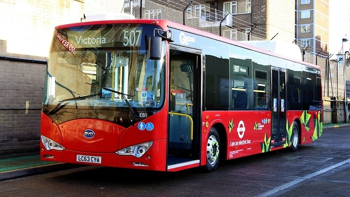 Europe's Largest all-electric bus fleet in London - BYD - Green motoring and urban transport