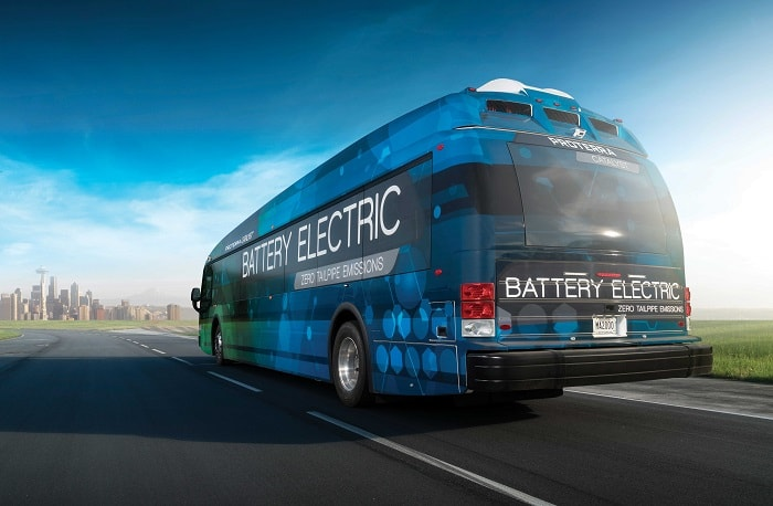 Proterra electric buses - Back of Catalyst E2 series - Green motoring and urban transport