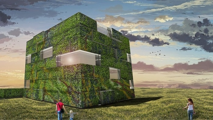 Biomorphic Living Screen from Inocente and Koliji - ECO URBAN Green Building
