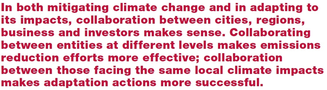 Quote - Collaborative climate action - CDP AECOM - sustainable cities
