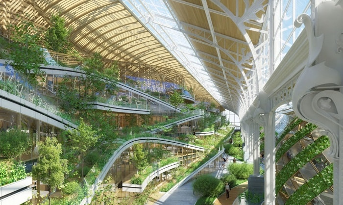 TOUR ET TAXIS interior energy plus concept from Vincent Callebaut