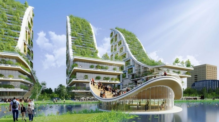 Tour Et Taxis-Energy-Plus-Masterplan - VERTICAL FORESTS & SKY VILLAS from Vincent Callebaut