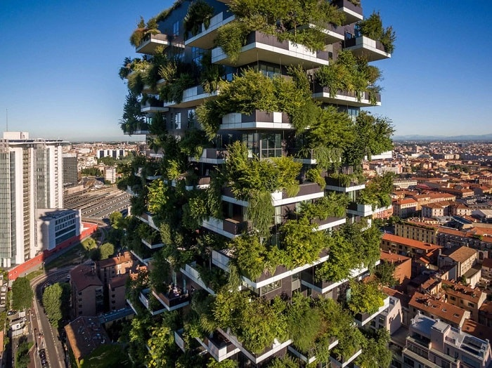 Vertical Forest by Stefano Boeri in Milano - eco urban green building