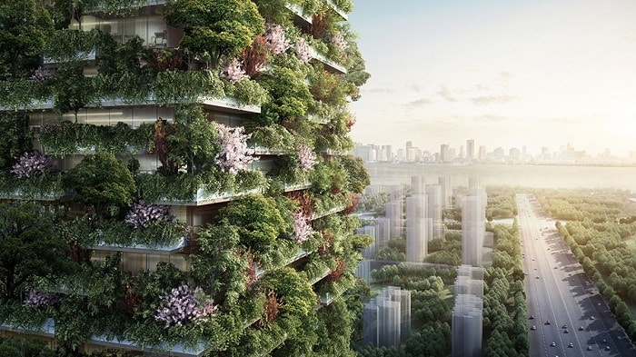 Vertical Forest by Stefano Boeri in Pukou District in China - eco urban green building