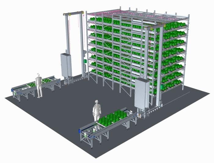 Automated farming system like PlantFactory from Urban Crop Solutions