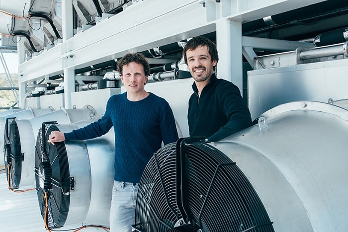 Jan Wurzbacher and Christoph Gebald founded Climeworks after developing first prototypes in Zurich
