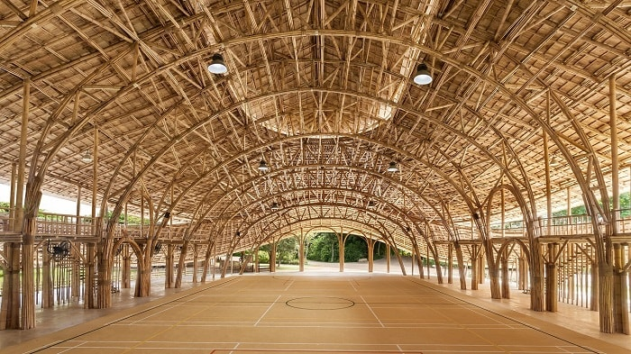 Bamboo building in Chiang Mai (Chiangmai Life Architects and Construction)