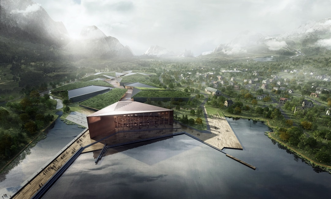 Norwegian Data Center Kolos harbor areal in Ballangen