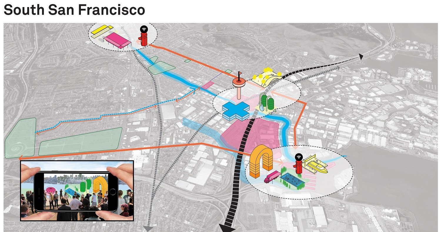Resilient By Design - Map2 of San Francisco Bay Area Waterfront Hassel, MVRDV and more