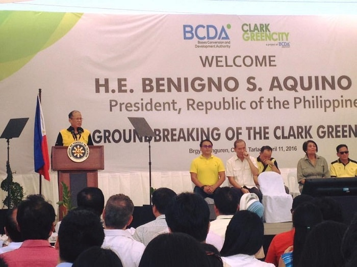 Groundbreaking ceremonie New Clark City Philippines