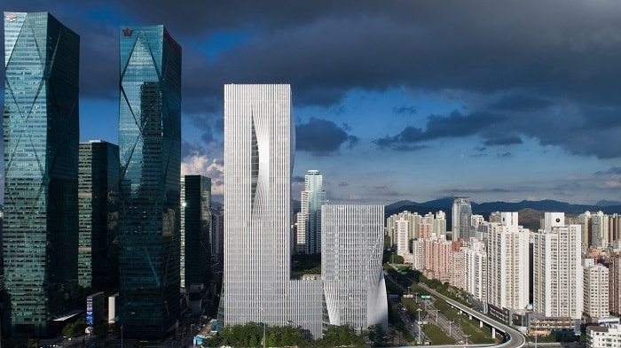 Shenzen Energy Company with new shading design from big