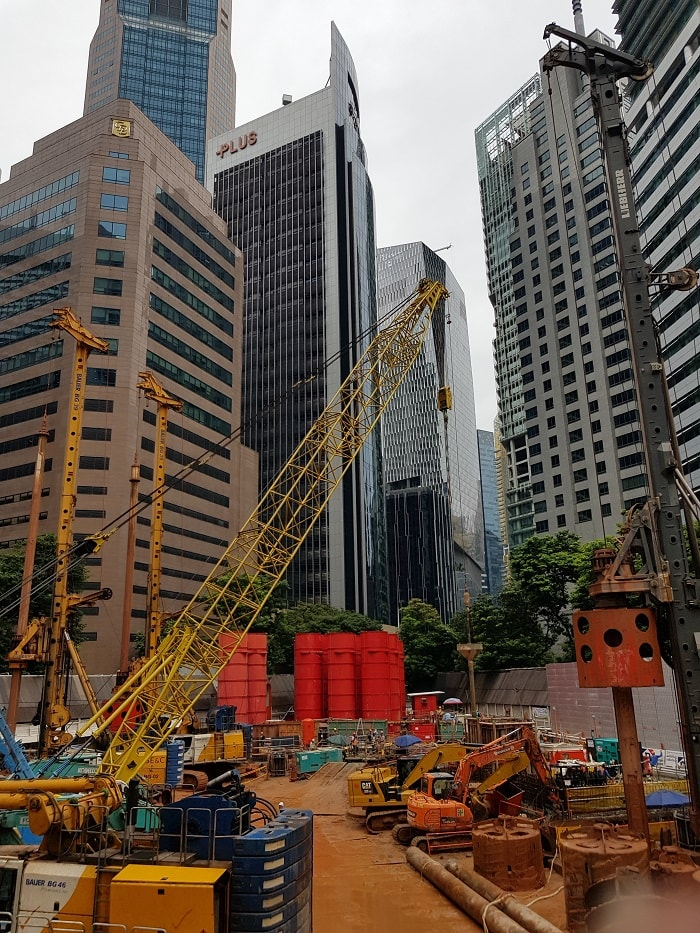 Pile Drill Foundation for Singapore's Green-Focused Skyscraper CapitaSpring from Capitaland