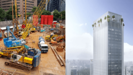 Construction site of Singapore's Green-Focused Skyscraper CapitaSpring from Capitaland - Paul Münzner BIG CRA