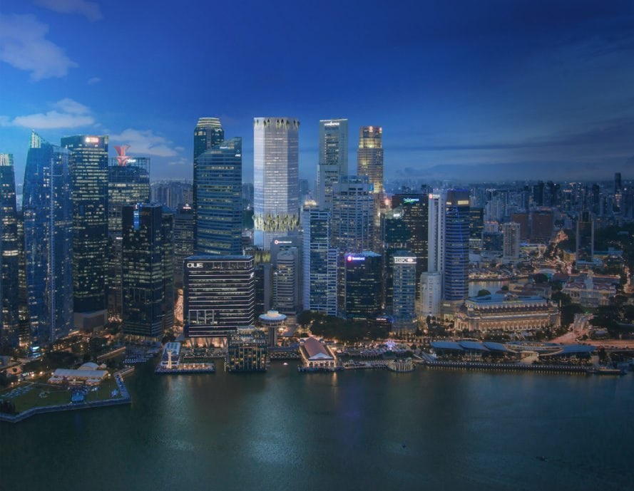 Singapore's Green-Focused Skyscraper CapitaSpring from Capitaland skyline (Bjarke Ingels Group & Carlo Ratti Associati)