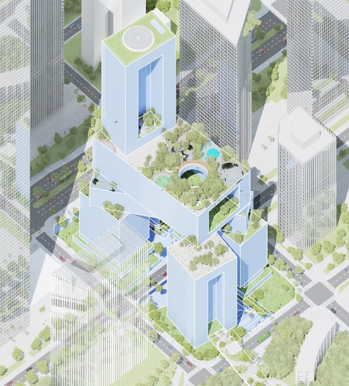 Greenery Vanke 3D City designed by MVRDV - image Atchain