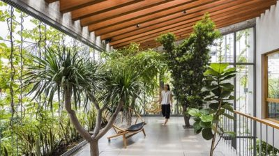 Inside Stepping Park House from Vo Trong Nghia Architects in Vietnam