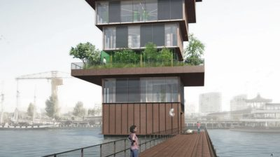 Vertical agriculture Superfarm by Studio NAB, urban farming, aquaponics