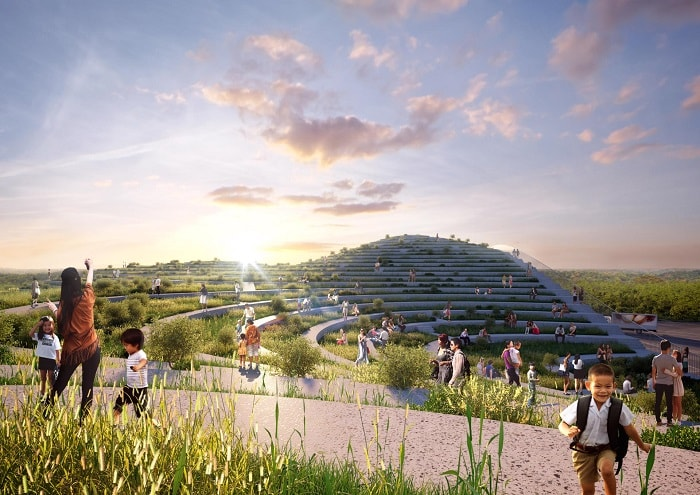 Green Roof Tainan Market by MVRDV in Taiwan
