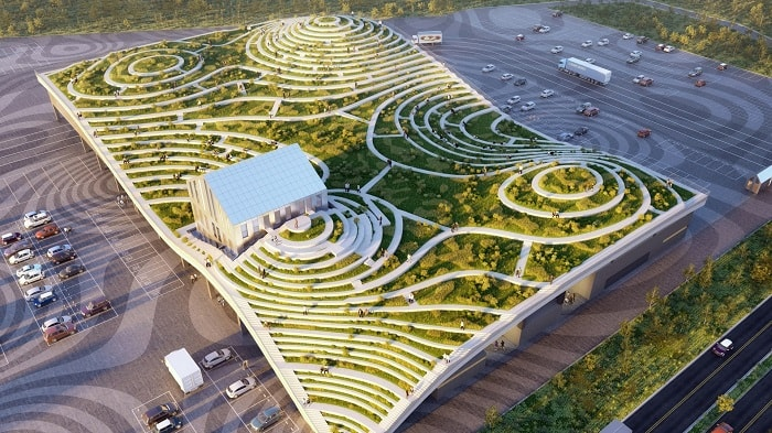 Green Roof Tainan Market by MVRDV