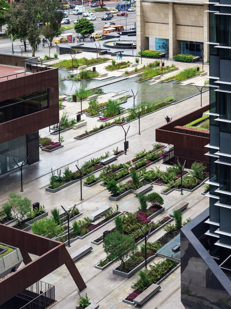 Santa Barbara Business Center - Urban Wetland in Bogota Colombia overview designed by Obraestudio