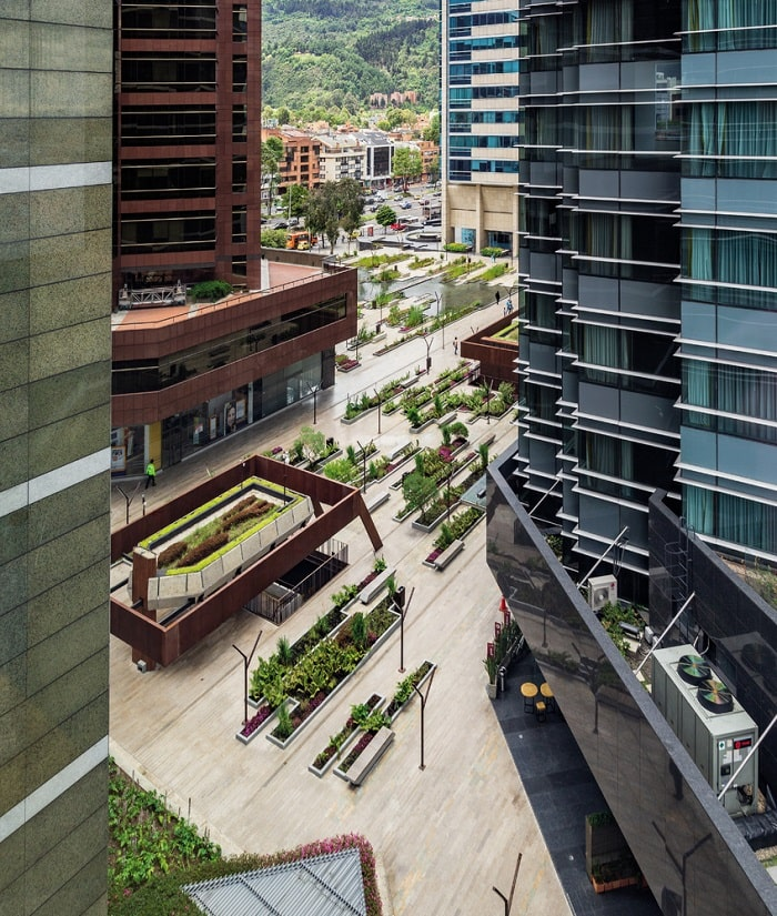 Santa Barbara Business Center - Urban Wetland in Bogota Colombia overview2 designed by Obraestudio
