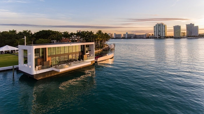 Green Floating Home aka livable yacht by Waterstudio and Arkup