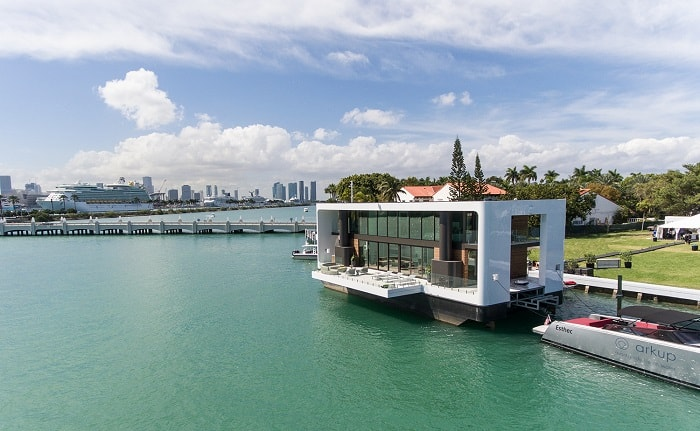 View Green Floating Home aka livable yacht by Waterstudio and Arkup