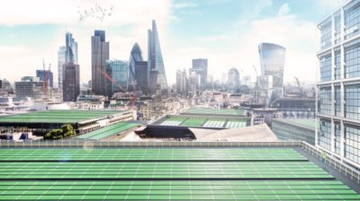 Biosolar leaf plant in London