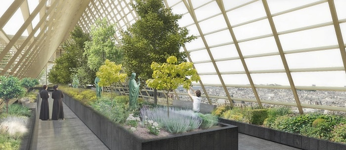 Inside Studio NAB's Notre Dame urban farming rooftop