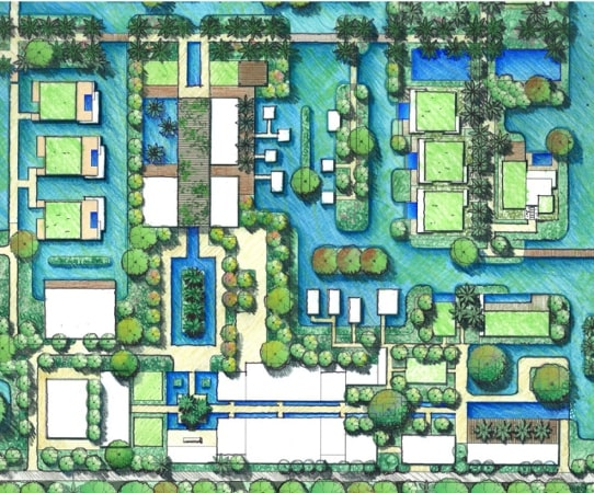 Mapping Adira Resort designed by Urbnarc in Vembanad India inspired by Kerala