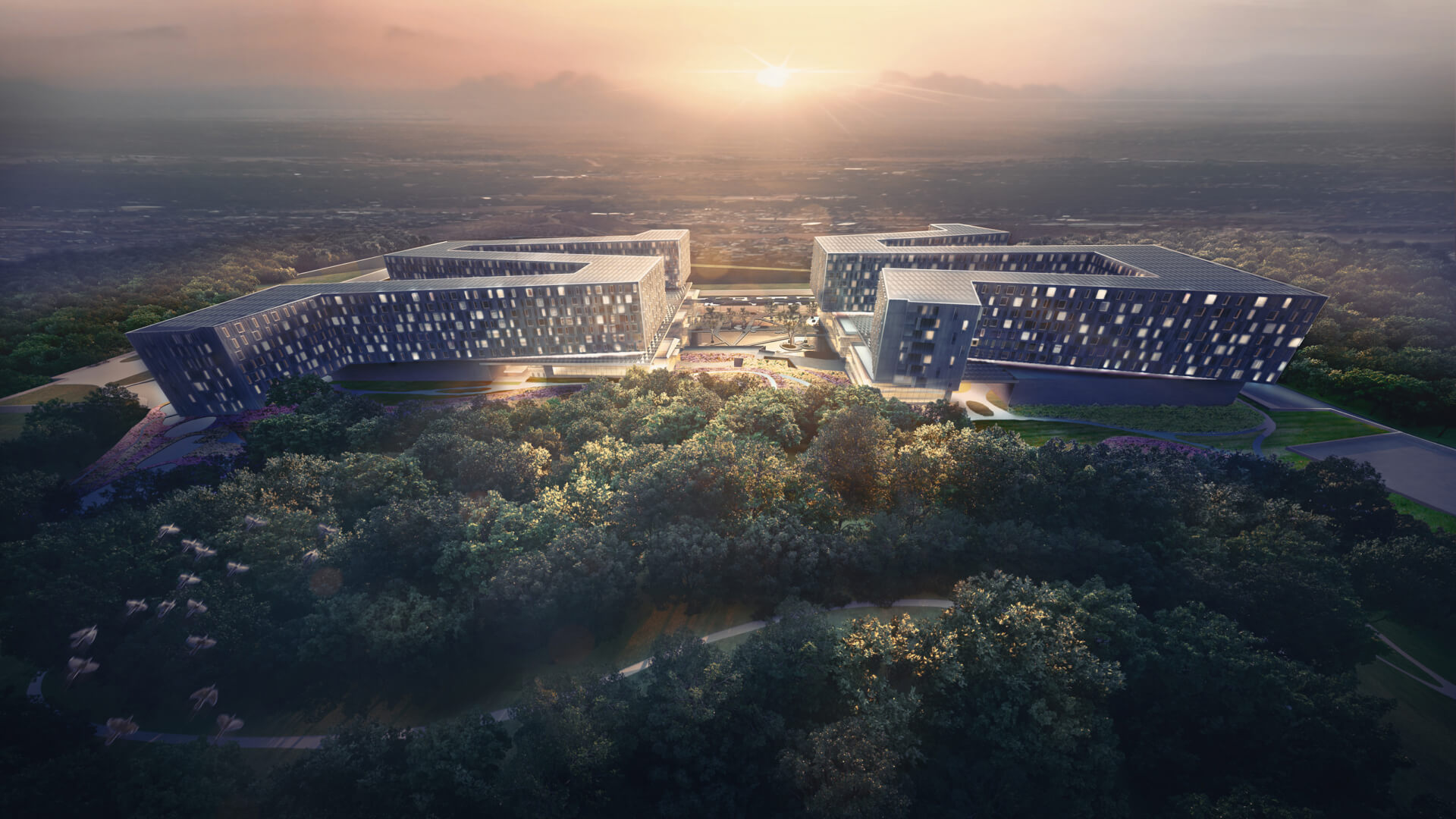 Medical City For Healing - XiangYa Hospital in China desifned by Payette