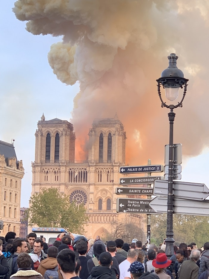 Notre Dame Cathedral burning Studio NAB redesigned
