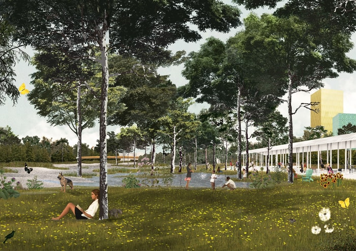 Park and greenery - OMA and Laboratorio Permanente won Agenti Climatici - Concorso Farini competition