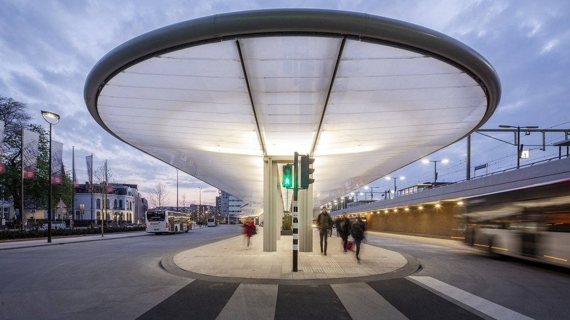 Self-Sufficient Tilburg Bus Station Transport Hub in The Netherlands by Cepezed