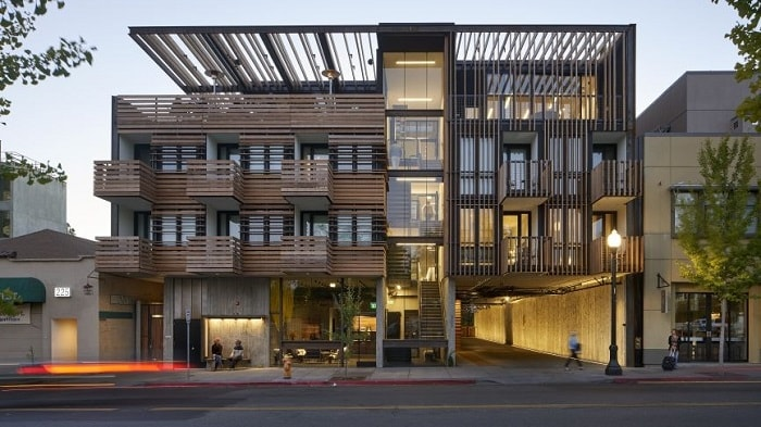 Healdsburg Harmon Hotel in California by David Baker Architects