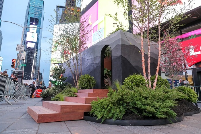 TINY HOUSE with greenery by fernando mastrangelo in New York City Time square