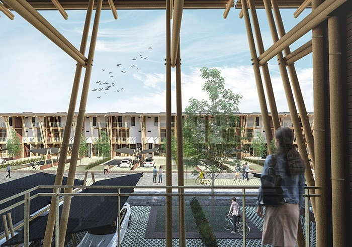 Sustainable Bamboo Mass Housing terrace in Malaysia-Eleena Jamil Architect