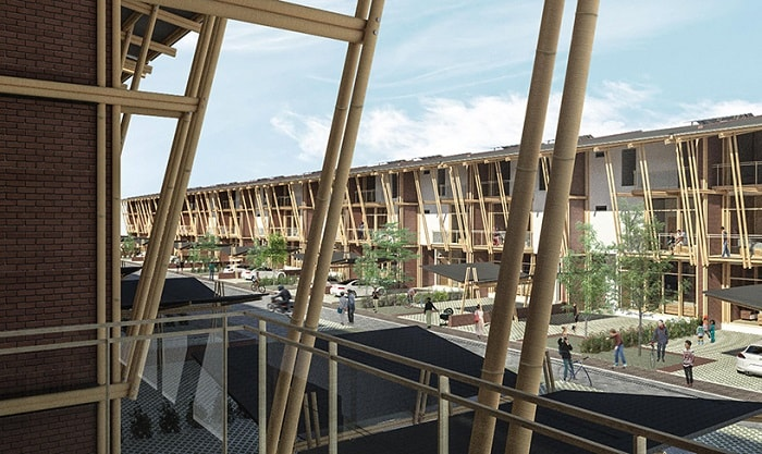 Sustainable Bamboo Mass Housing window view in Malaysia-Eleena Jamil Architect